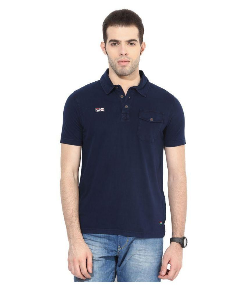 Fila Navy Polo T Shirts