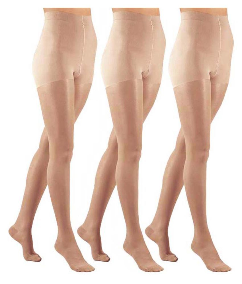 15cca54e9ae ReadyBee Beige Nylon Stockings - Pack of 3  Buy Online at Low Price in India  - Snapdeal