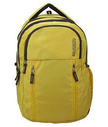 American Tourister Branded backpacks Casual Backpack laptop bag School Bags Yellow 30 Polyester