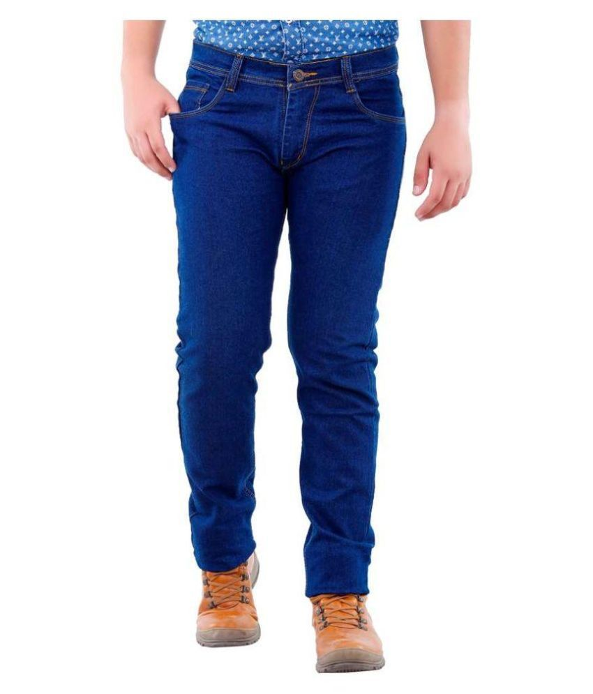 Fashion n Style Blue Regular Fit Solid Jeans