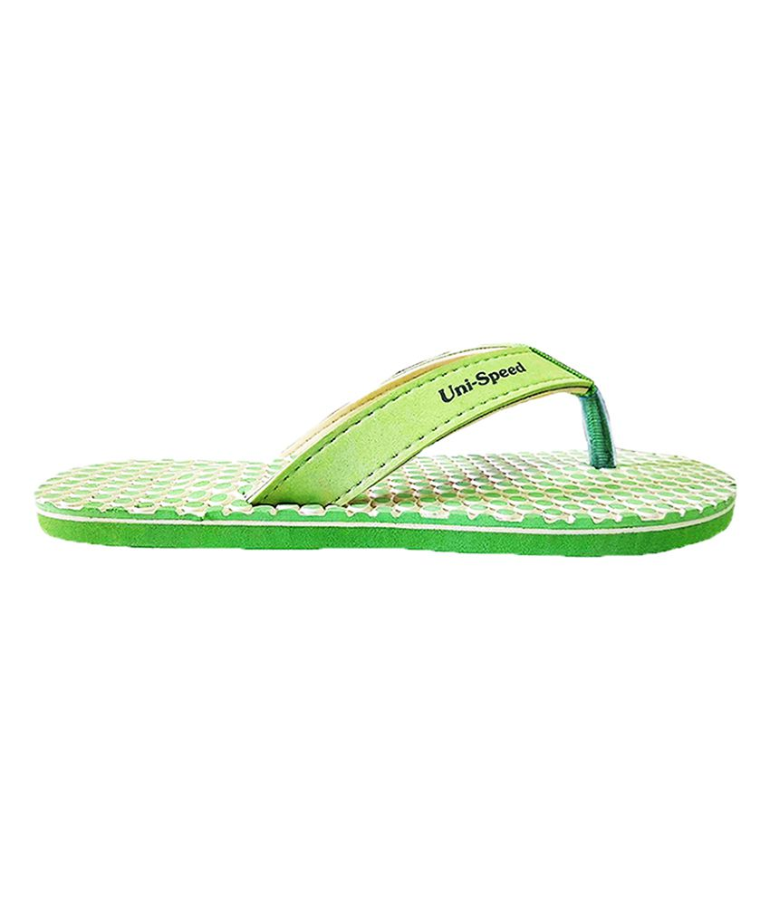 Unispeed Green Flip Flops