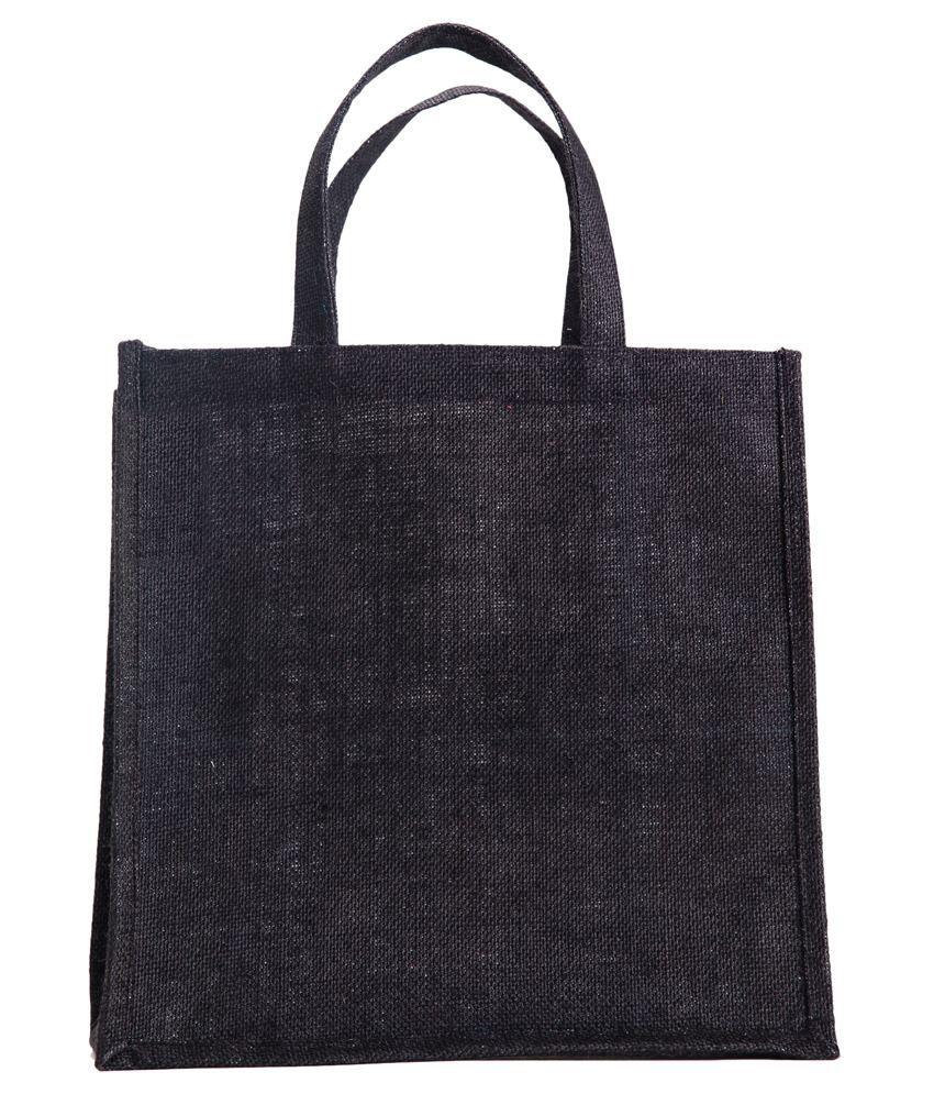 Verdant Globe Black Lunch Bags