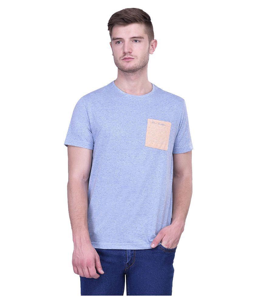 Blue Buddha Blue Round T Shirt