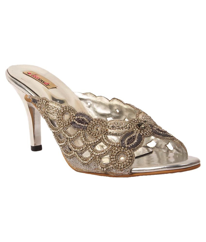 Foot Candy Silver Heels