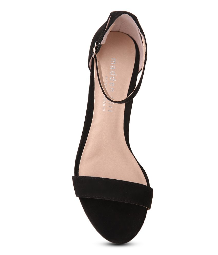 b7a00ea1a85a41 Steve Madden Beella Black Block Heels Price in India- Buy Steve ...
