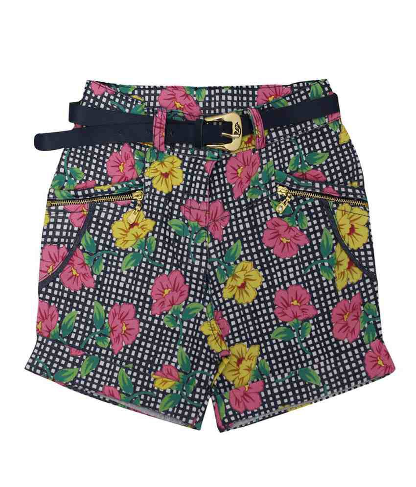 Titrit Multicolour Cotton Printed Shorts