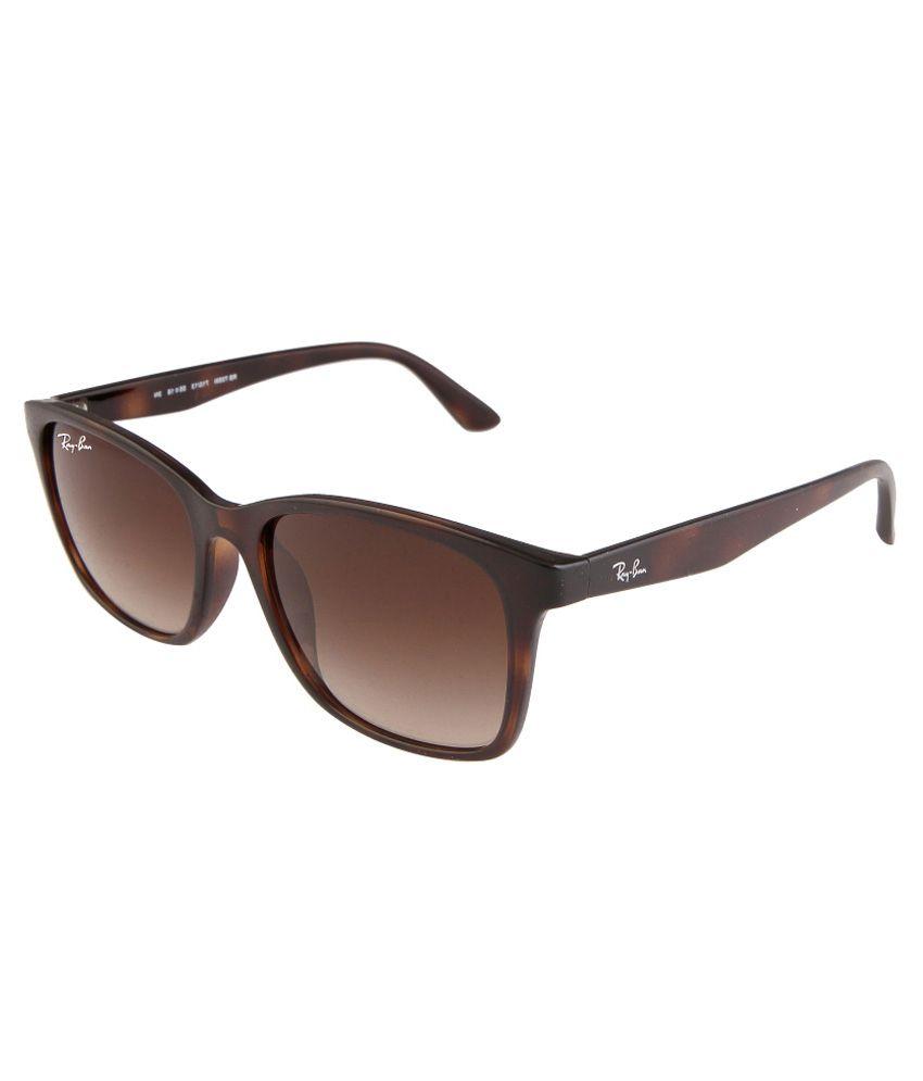 Ray-Ban Brown Wayfarer Sunglasses (RB7059/710-13 55-18)