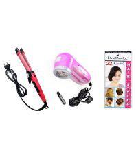 Style Maniac  NHC-1818: NLR-216 Hair Straightener Pink