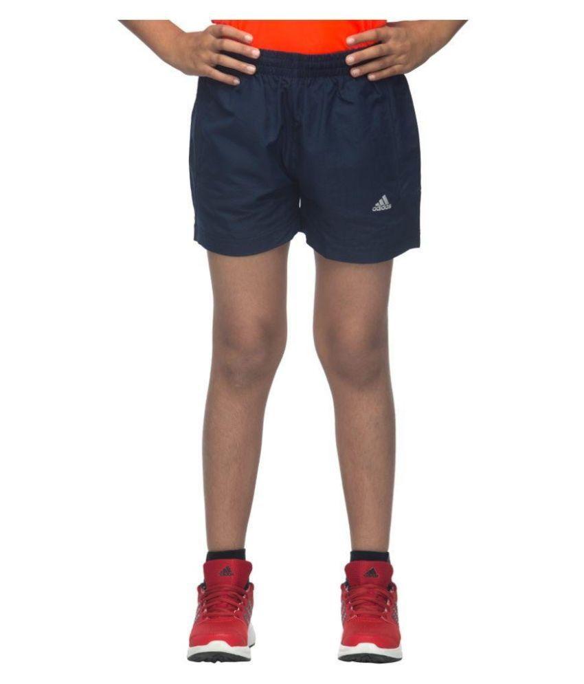 Adidas Navy Polyester Shorts