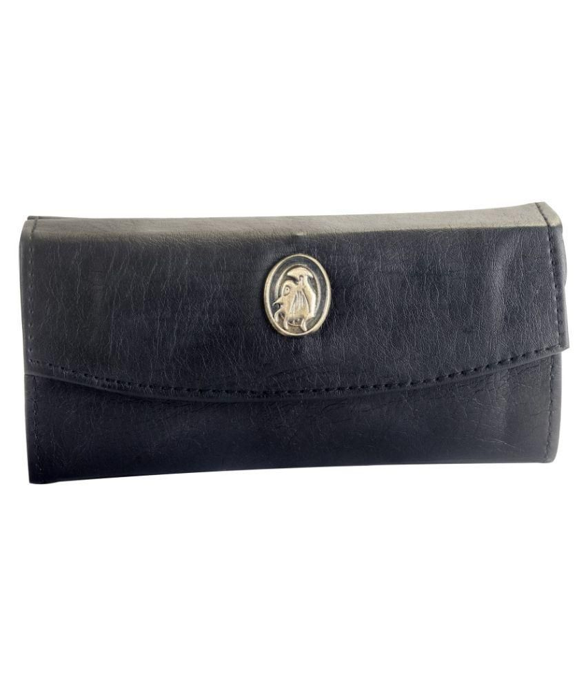 D2U Black Solid Bi Fold Wallet