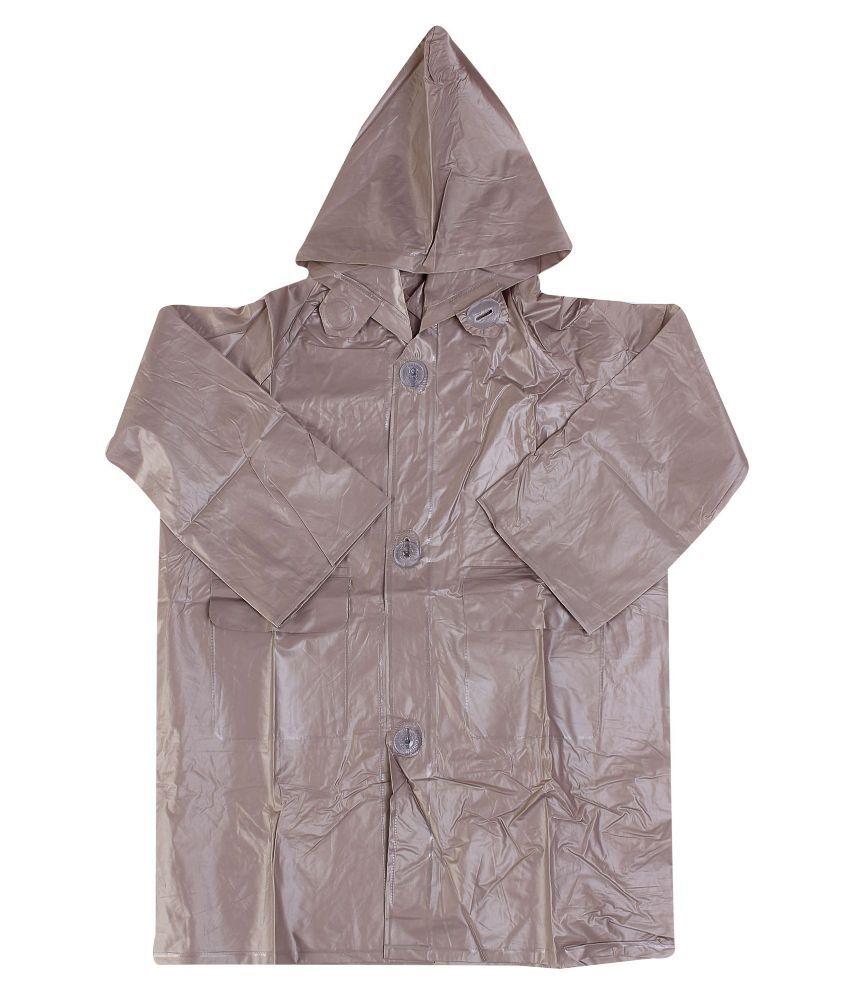 Inside Fashion Brown Viscose Hooded Rainwear