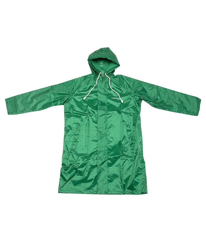 Inside Fashion Green Viscose Hooded Rainwear