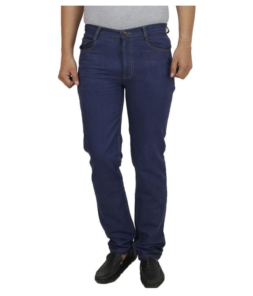 Koutons Outlaw Blue Regular Fit Solid Jeans