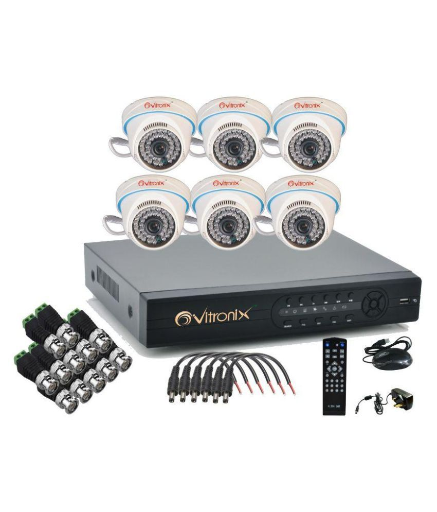 Ovitronix OVI-8CH-ANA-D6 8-Channel Dvr Kit (With 6 1000TVL Dome Cameras)