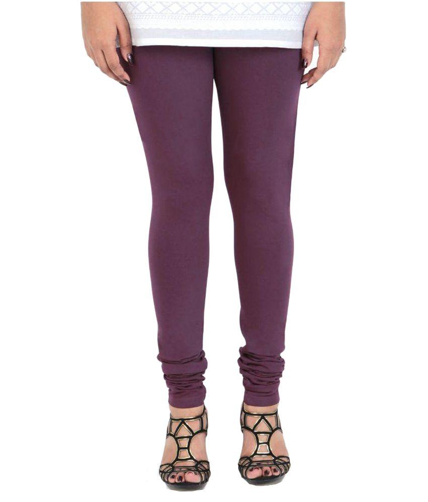 Vami Purple Cotton Leggings