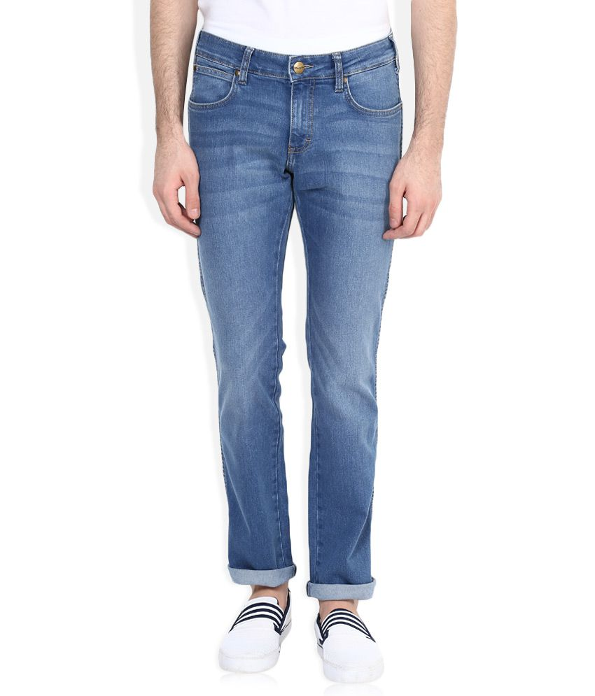 Wrangler Blue Slim Faded