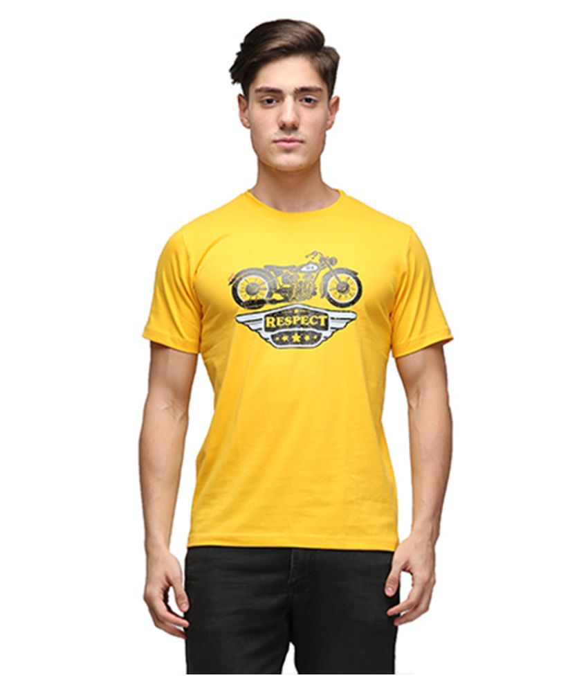 Effit Yellow Round T Shirt
