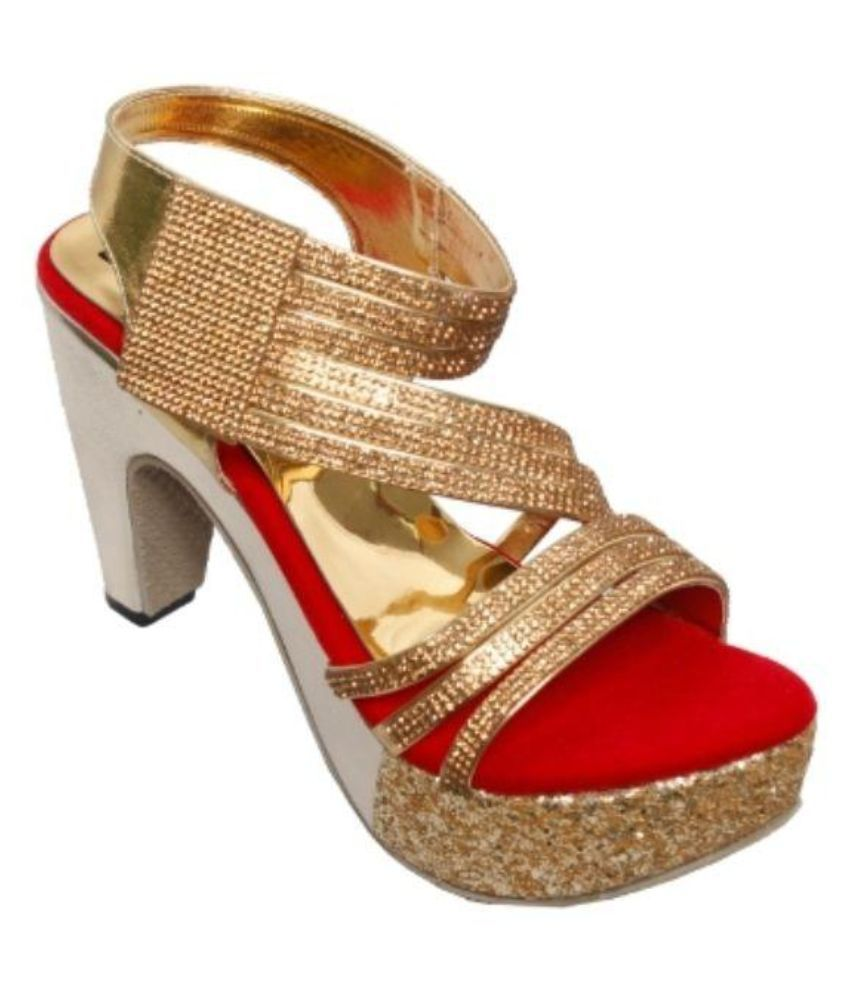 Step Zone Red Cone Heels