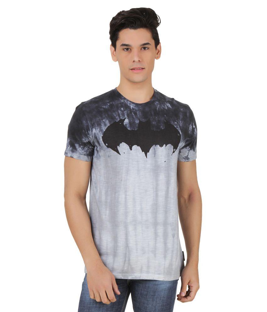 Batman Grey Round Neck T Shirt