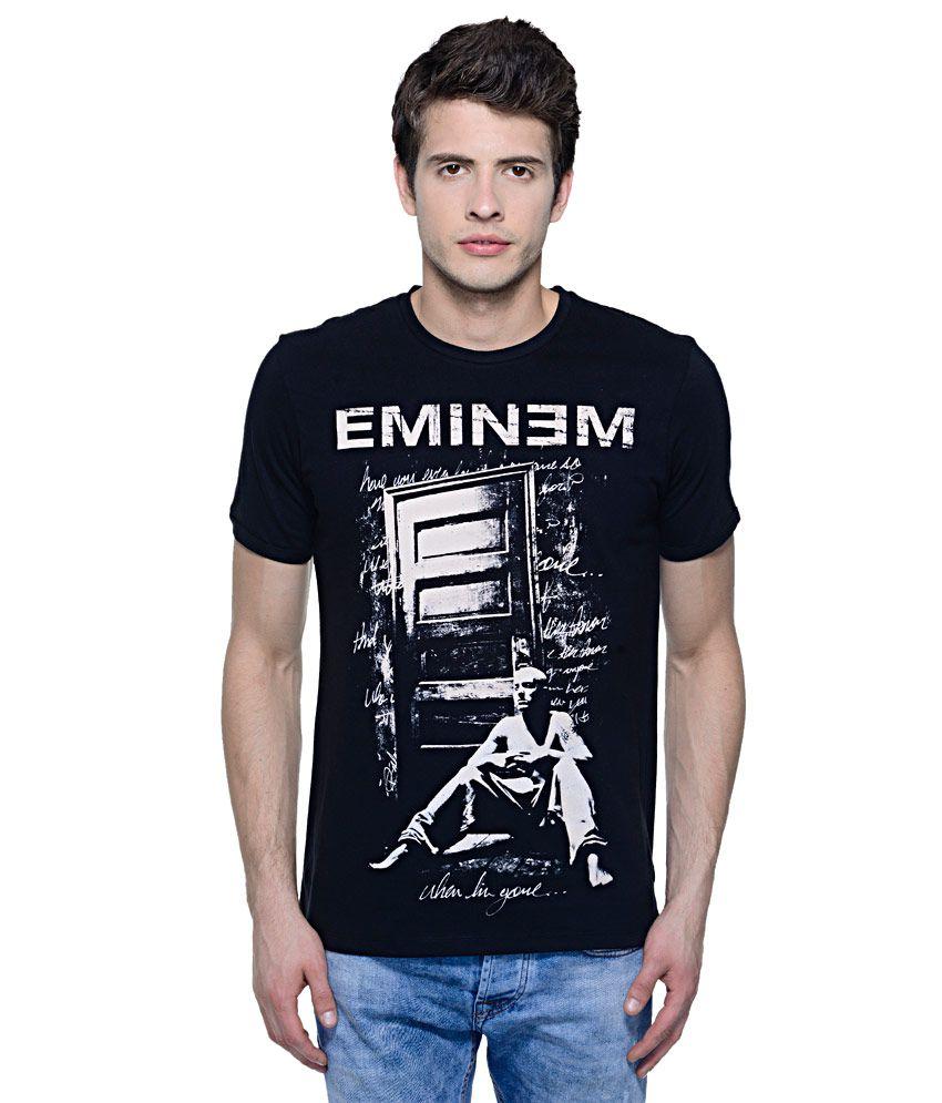 Eminem Black Round Neck T Shirt