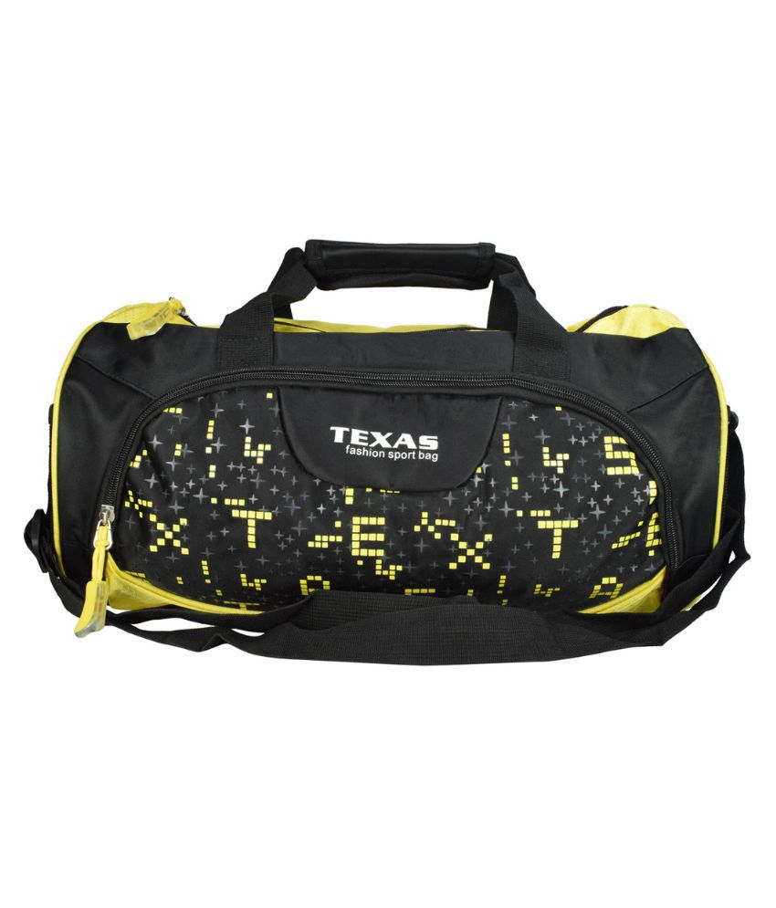 Texas BLACK Gym Bag
