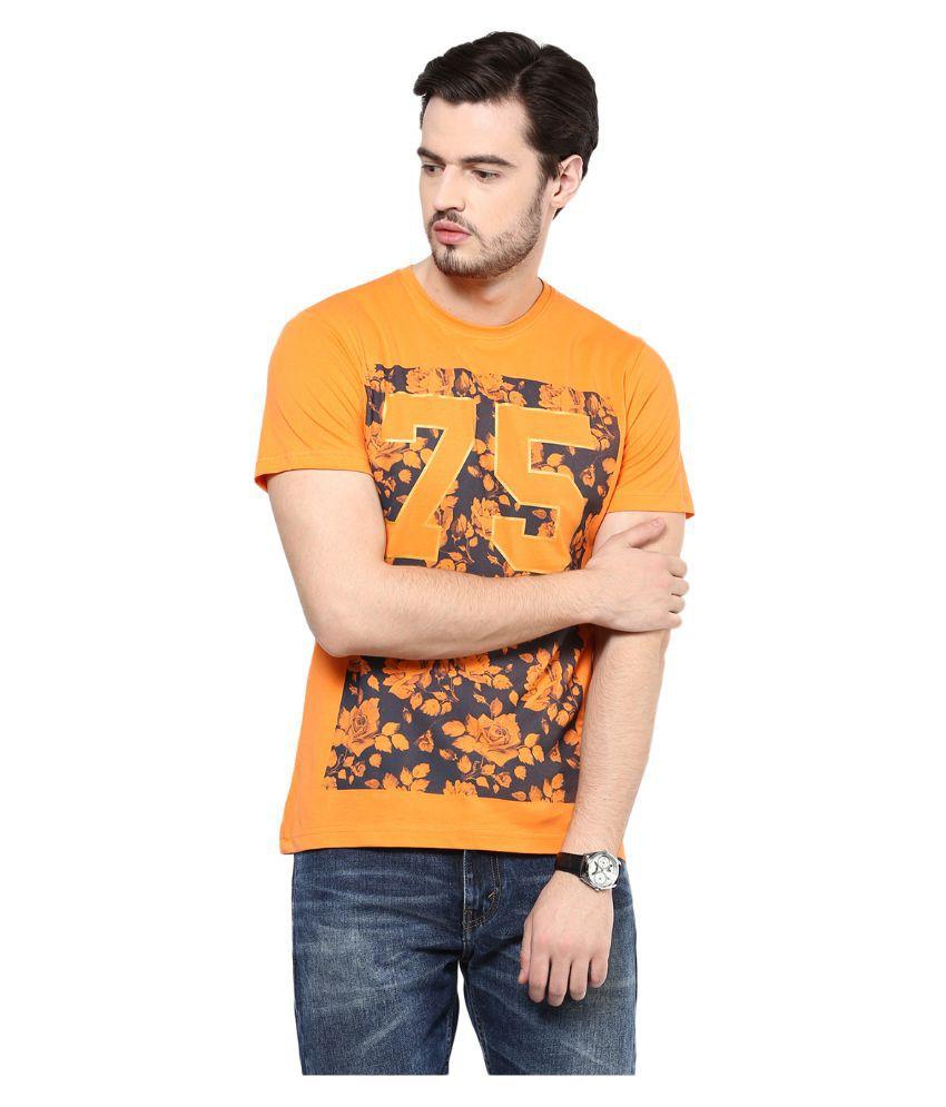 Yepme Orange Round T Shirt