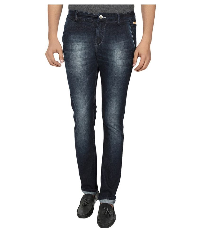 Fever Blue Slim Fit Washed Jeans