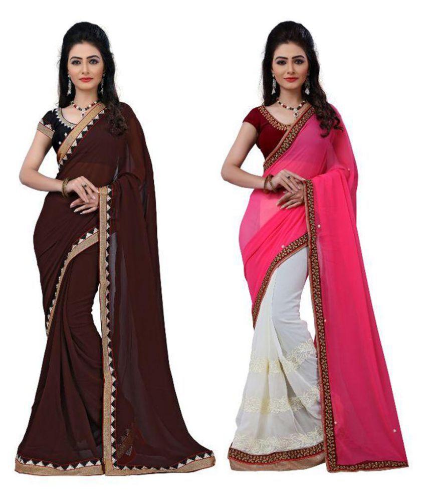 Bhavya Trendz Multicoloured Cotton Saree Combos
