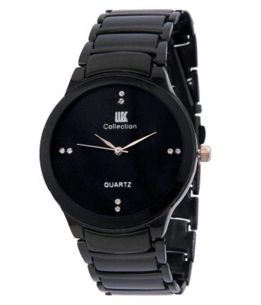 IIK Collection Black Analog Watch