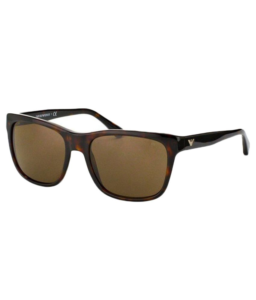Emporio Armani Brown Wayfarer Sunglasses ( EA-4041-5026-73 )