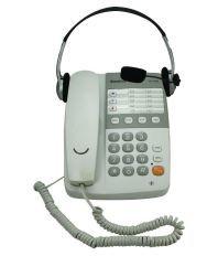 Sonics HT-929 HS Corded Landline Phone White