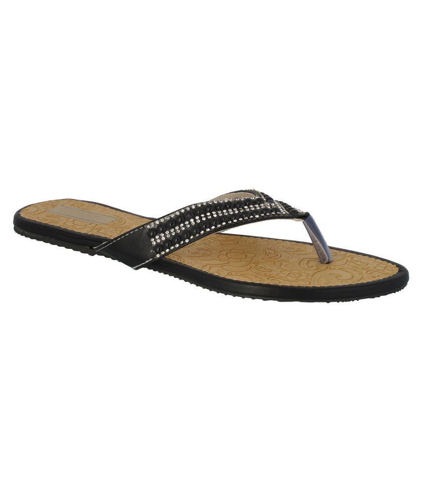 Suntrance Black Slippers