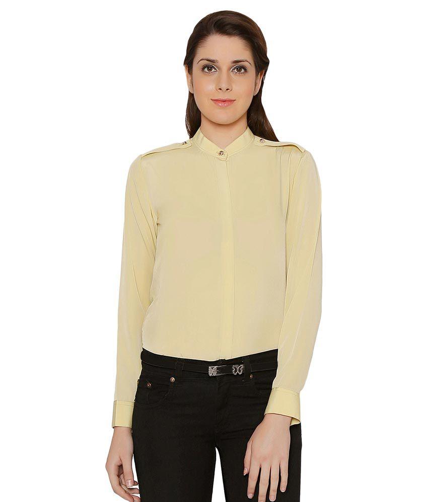 Crisp Outfitters Beige Cotton Shirts
