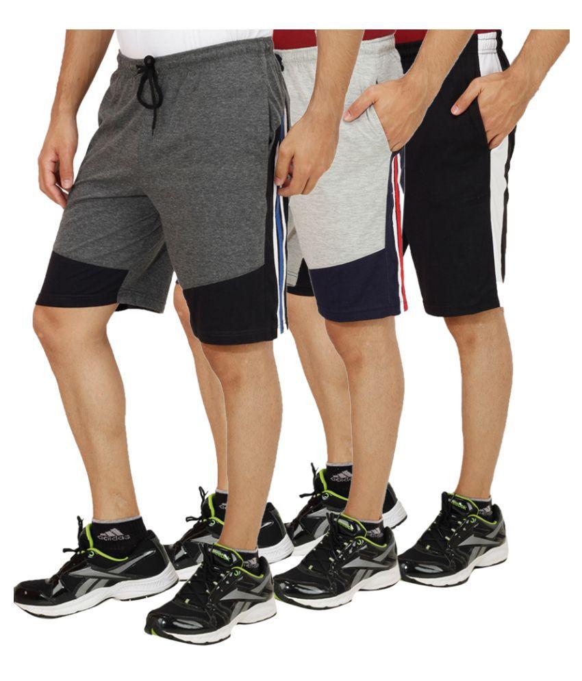 Sanvi Traders Multi Shorts Set of 3