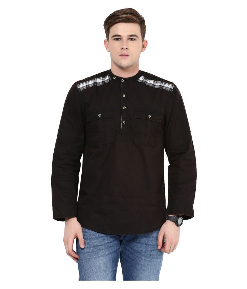 Black t shirt yepme - Yepme Black Cotton Kurta