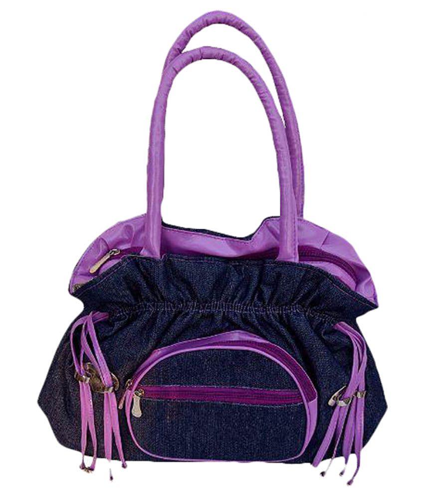 Purses Blue Synthetic Shoulder Bag