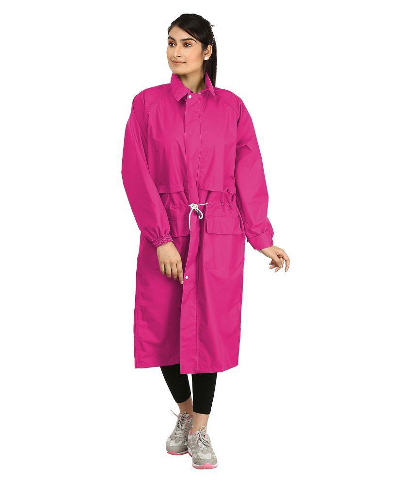 Rainfun Pink Waterproof Nylon Raincoat