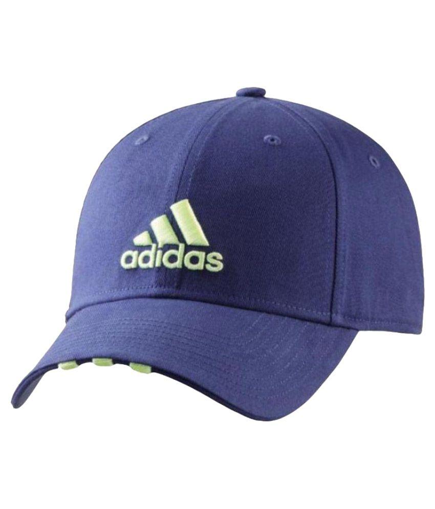 Adidas Blue Cotton Tennis Cap For Men