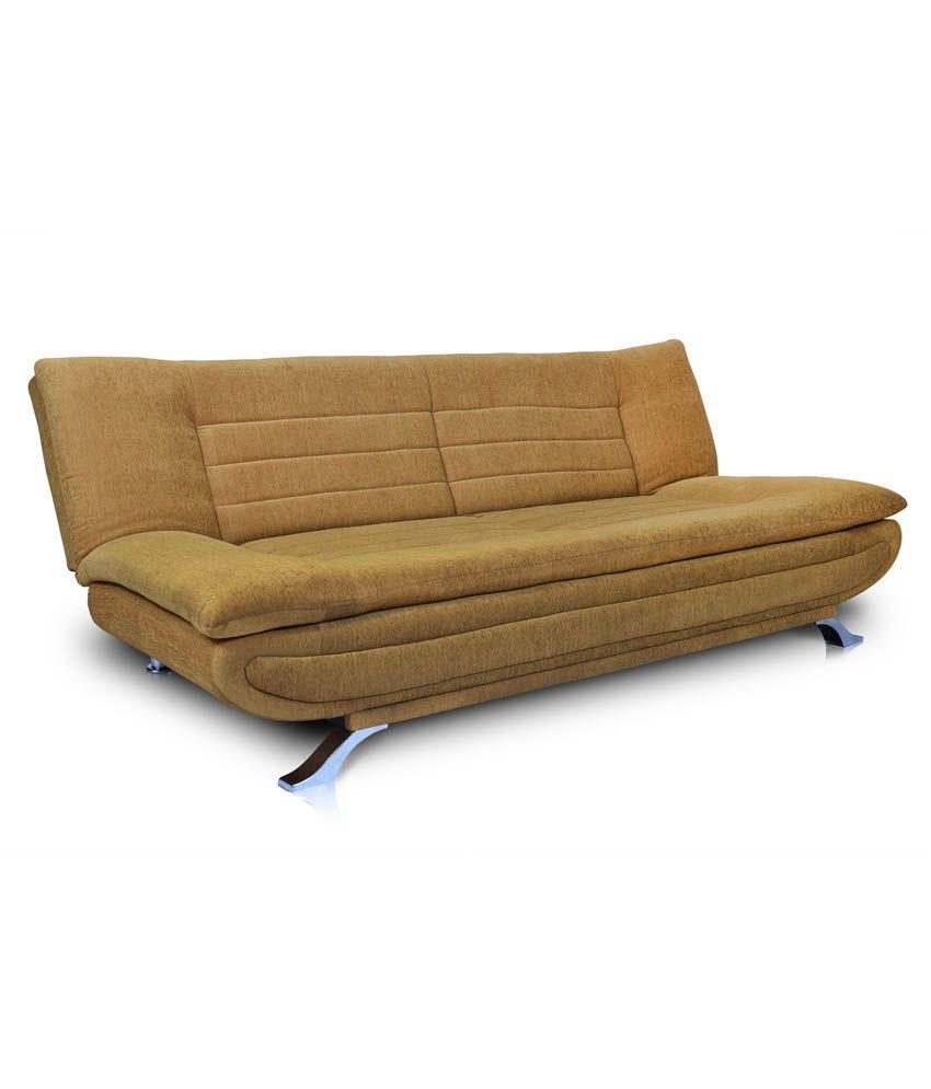 Dolphin Elite Leather & Fabric Sofa Cum Bed