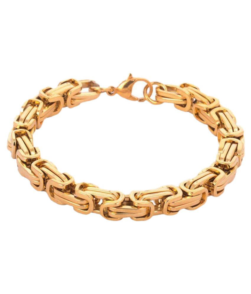Priyansh Enterprise Alloy Studded Gold Coloured Bracelet
