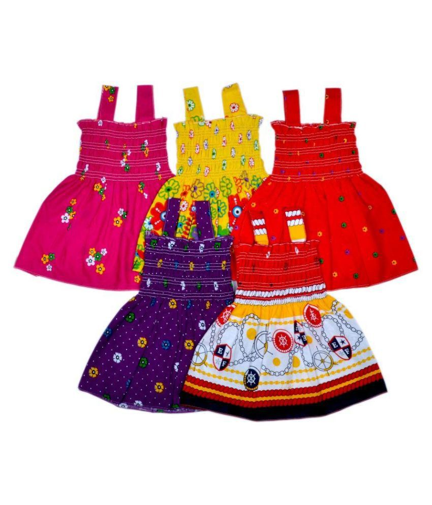 Sathya Multicolor Cotton Fock - Pack of 5