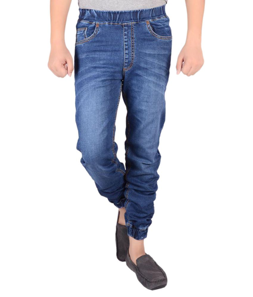 Actistud Blue Regular Fit Washed Jeans