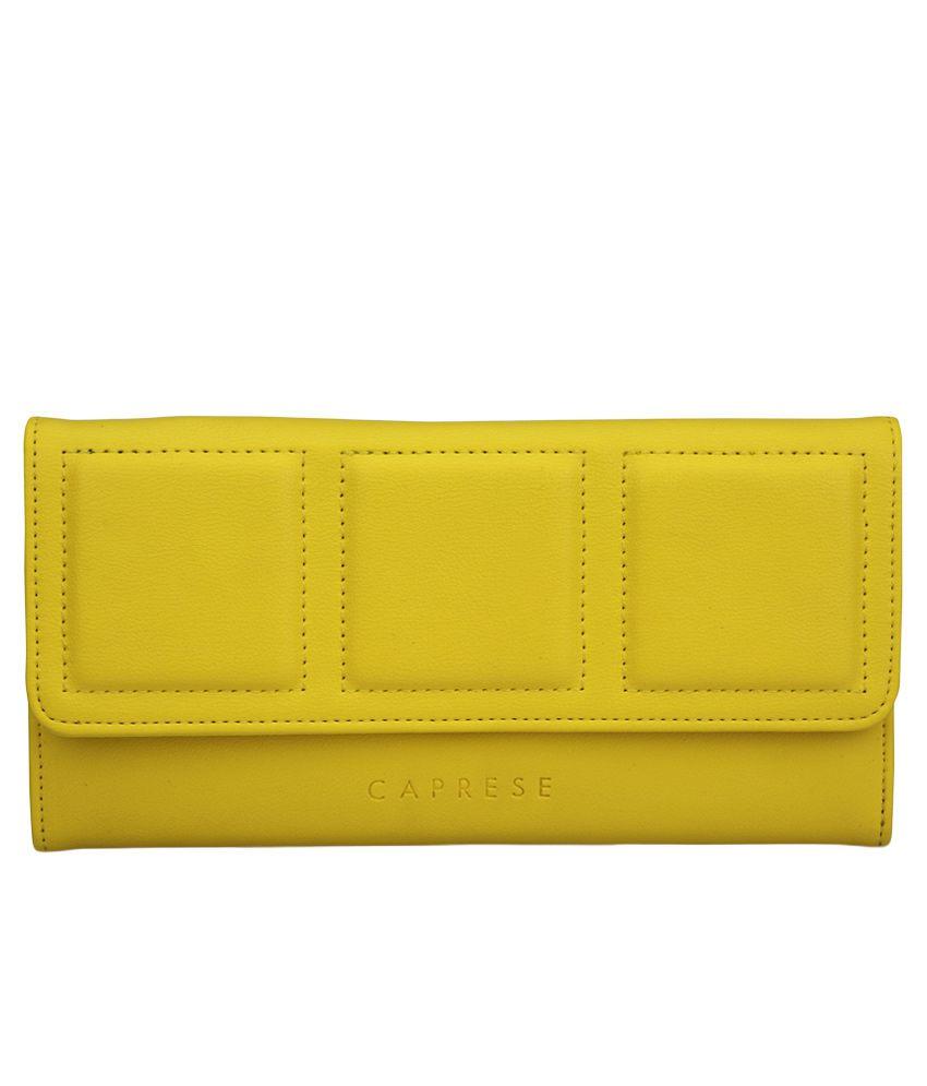 Caprese Yellow Wallet