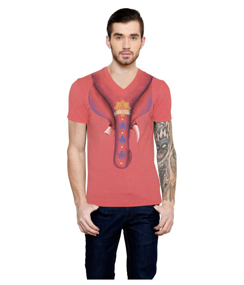 Rang Rage Peach V-Neck T Shirt