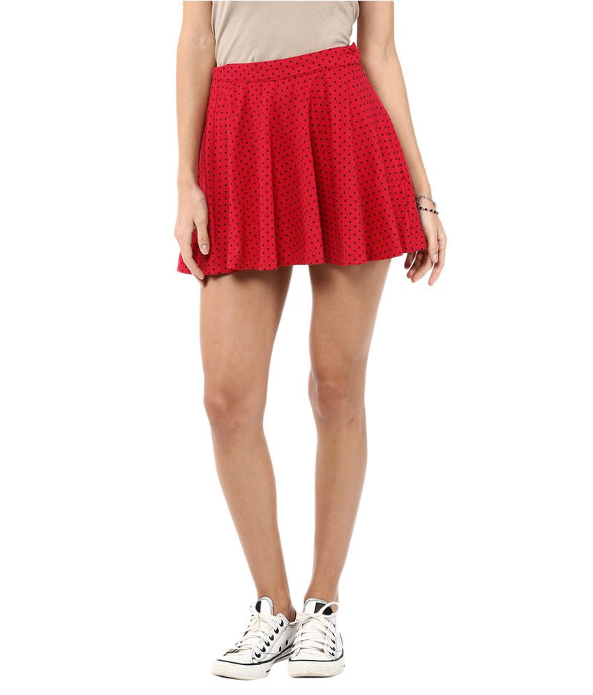 89906bab492 Buy Yepme Red Cotton Mini Skirt Online at Best Prices in India - Snapdeal
