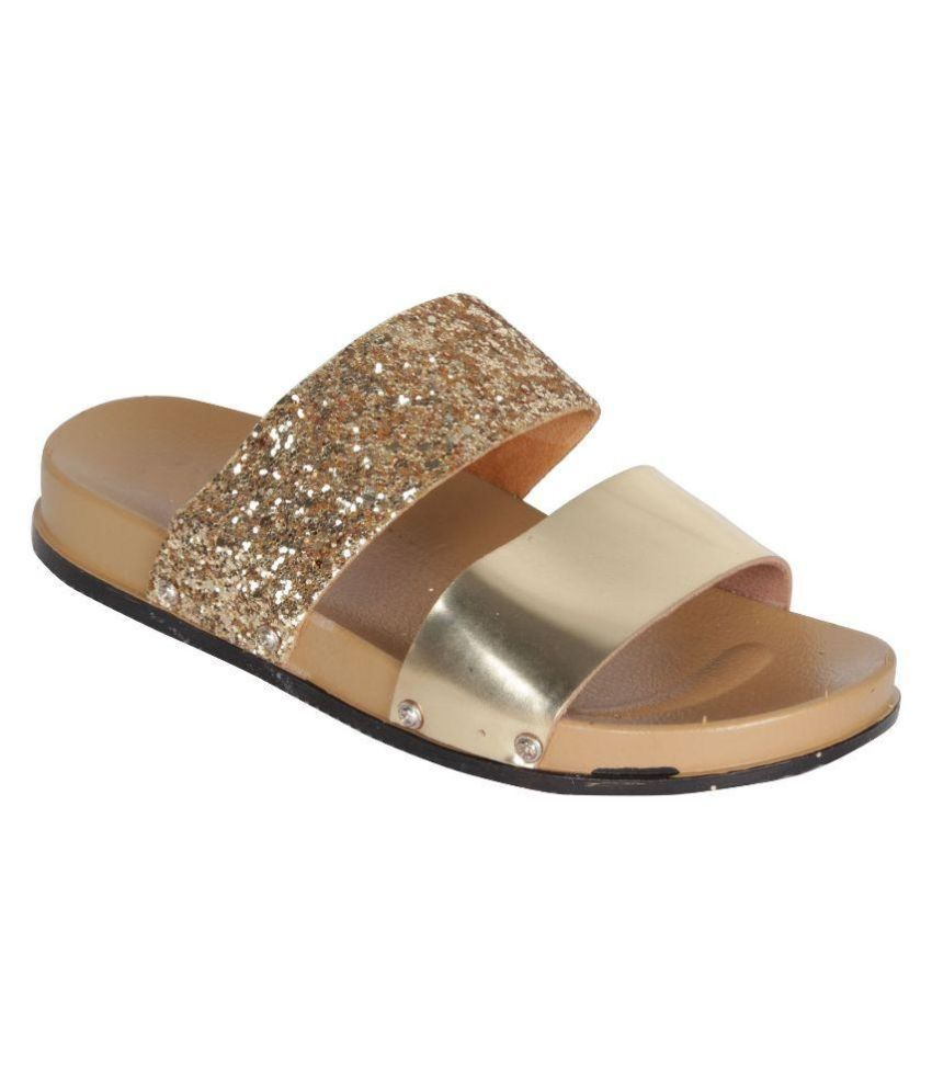 Greentree Gold Slippers