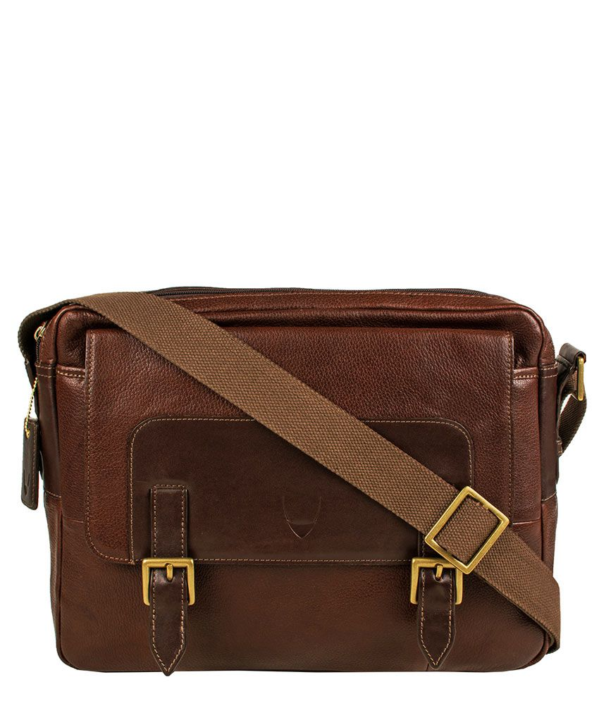 Hidesign Bertoia 05 Brown Leather Messenger Bag