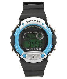 Sonata Black Digital Watch