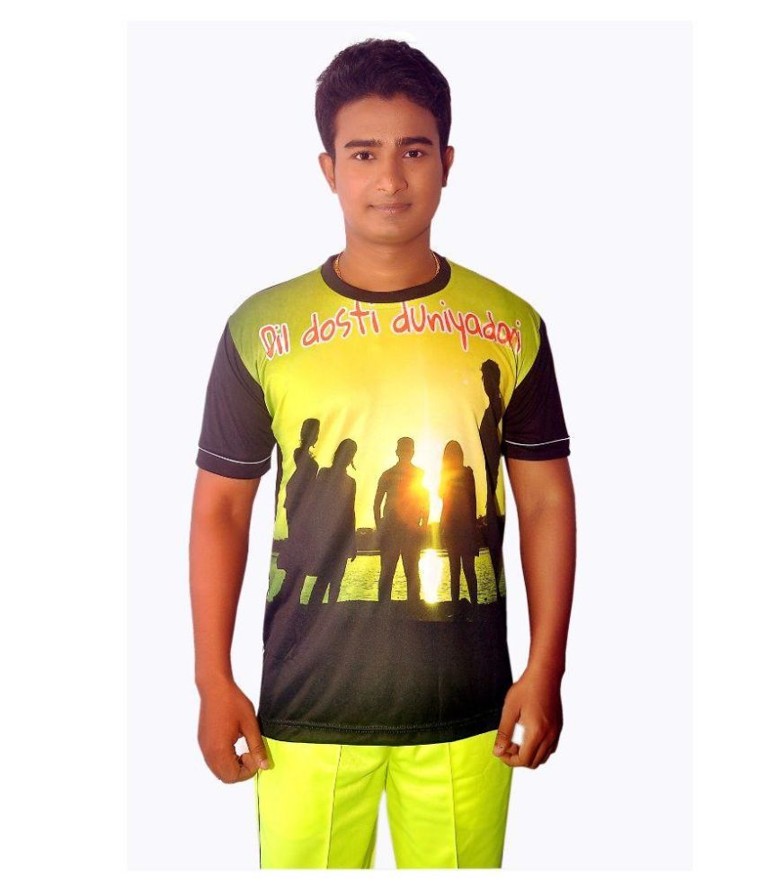 Dyed Colours Multi Round T-Shirt