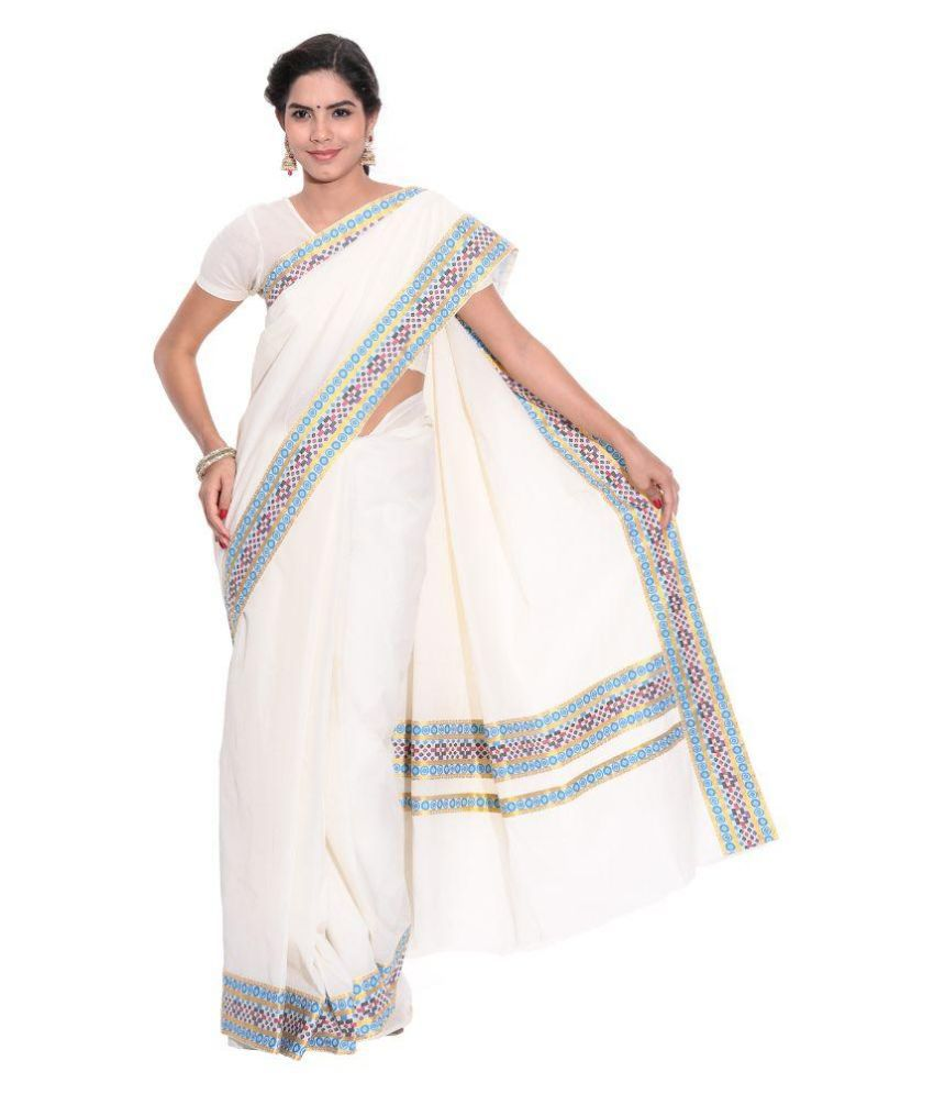 c326a36daa Fashionkiosks White and Grey Cotton Saree - Buy Fashionkiosks White and Grey  Cotton Saree Online at Low Price - Snapdeal.com